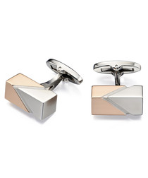 rose gold-plated steel block cufflinks
