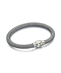 grey nylon braid bracelet