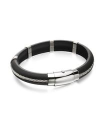 stainless steel twist bracelet