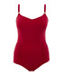 Anya red ruched swimsuit Sale - panache Sale