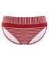 Britt red striped bikini briefs Sale - Swimwear Sale