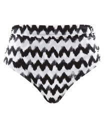 Leila black & white zigzag bikini briefs