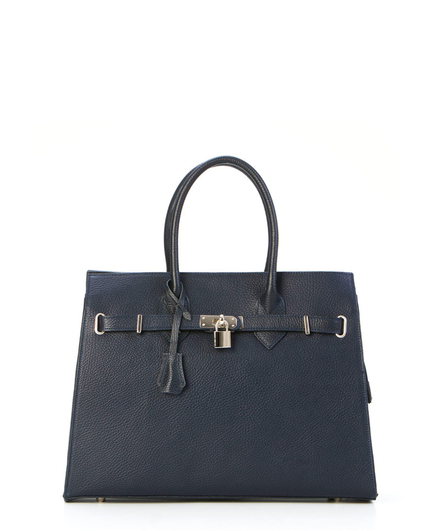 Monte Amaro blue leather shopper bag Sale - pia sassi