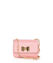 Monte Lesima pink leather crossbody