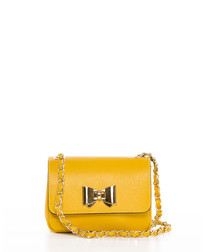 Monte Lesima yellow leather crossbody