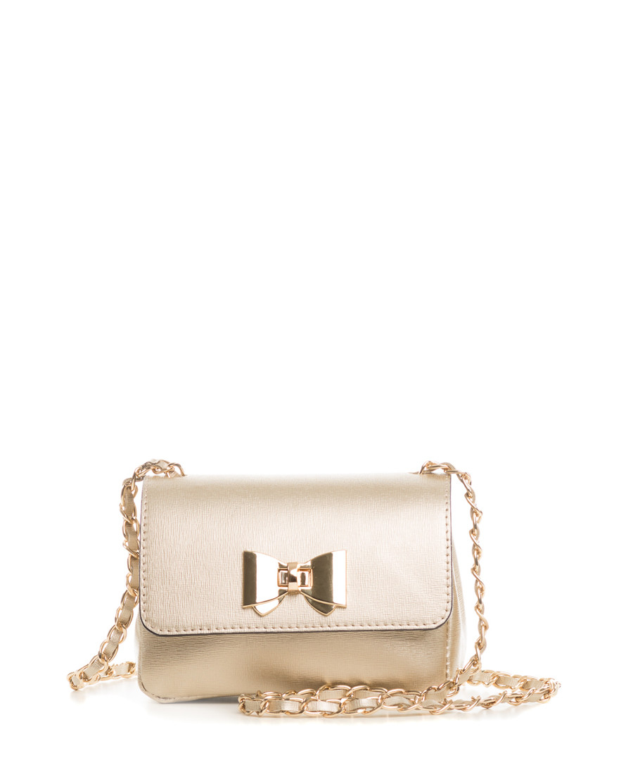 Monte Lesima gold leather crossbody Sale - pia sassi