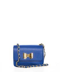 Monte Lesima blue leather crossbody