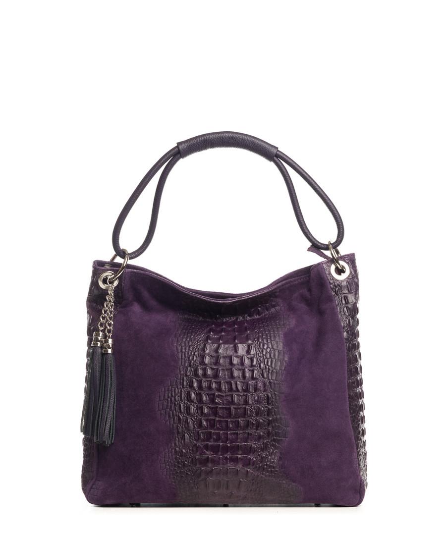 Botte Donato purple leather shopper Sale - pia sassi