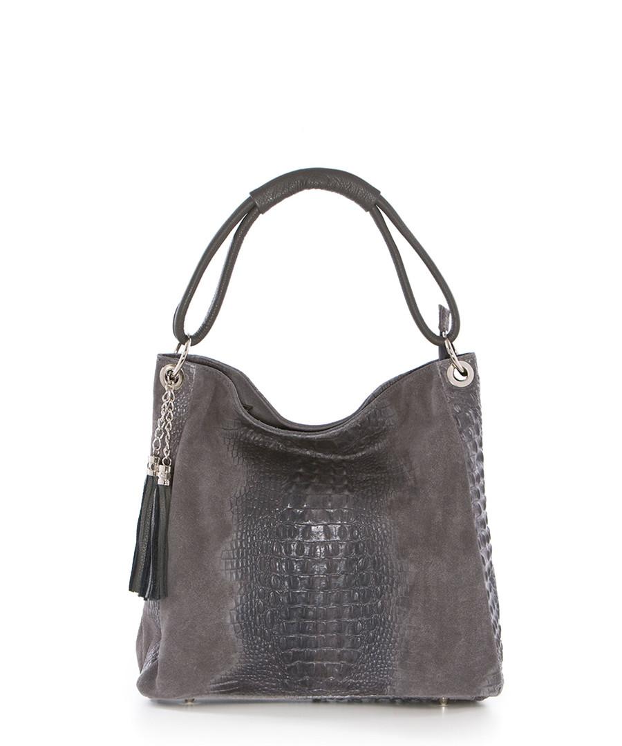 Botte Donato dark grey leather shopper Sale - pia sassi