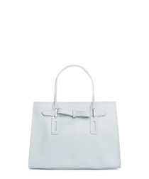 Monte Cairo light blue leather shopper