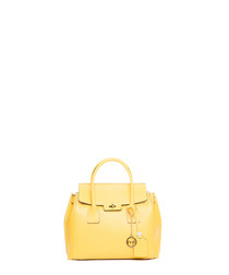 Ventotto yellow leather grab bag
