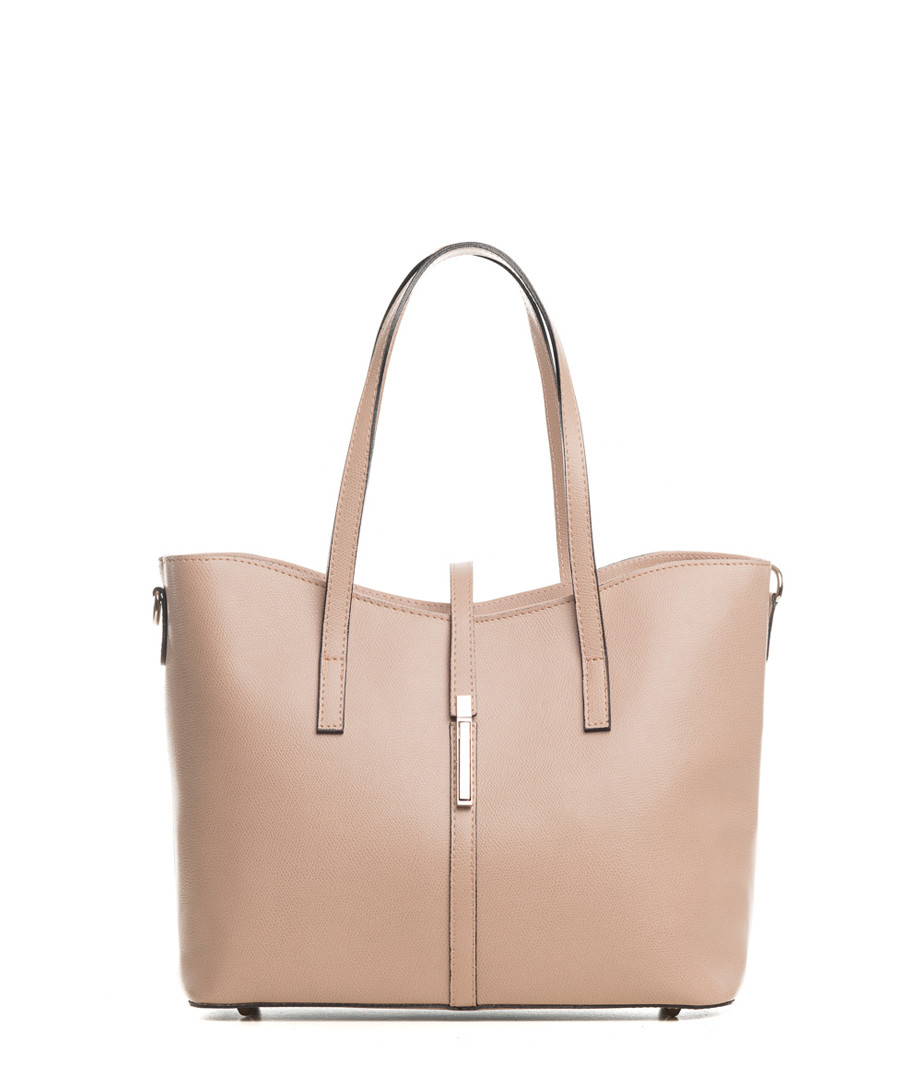 Montecarlo taupe leather shopper Sale - lucca baldi