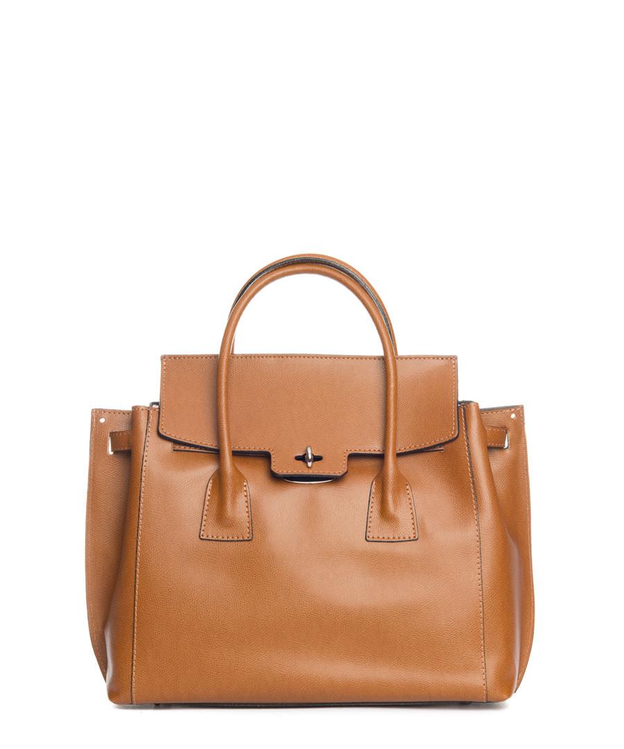 Pomarance tan leather shopper Sale - lucca baldi