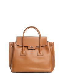 Pomarance tan leather shopper