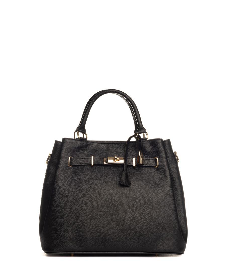 Panaro black leather shopper Sale - lia biassoni
