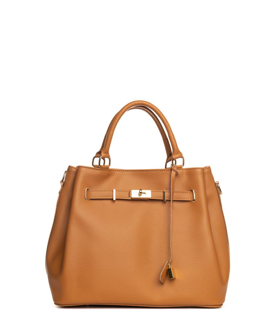 Panaro tan leather shopper Sale - lia biassoni