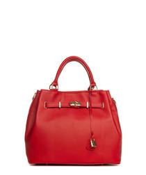 Panaro red leather shopper