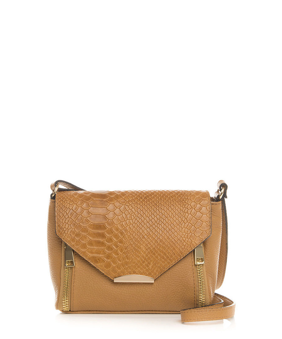 Gorgone tan leather crossbody Sale - lia biassoni