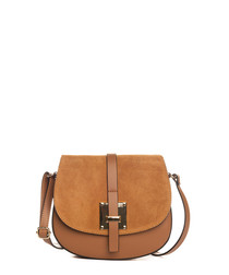 Adda tan leather crossbody