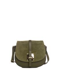 Adda green leather crossbody