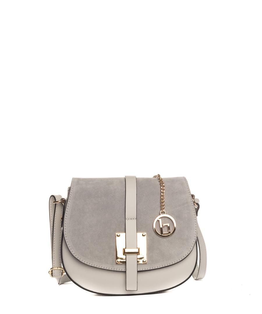 Adda grey leather crossbody Sale - lia biassoni