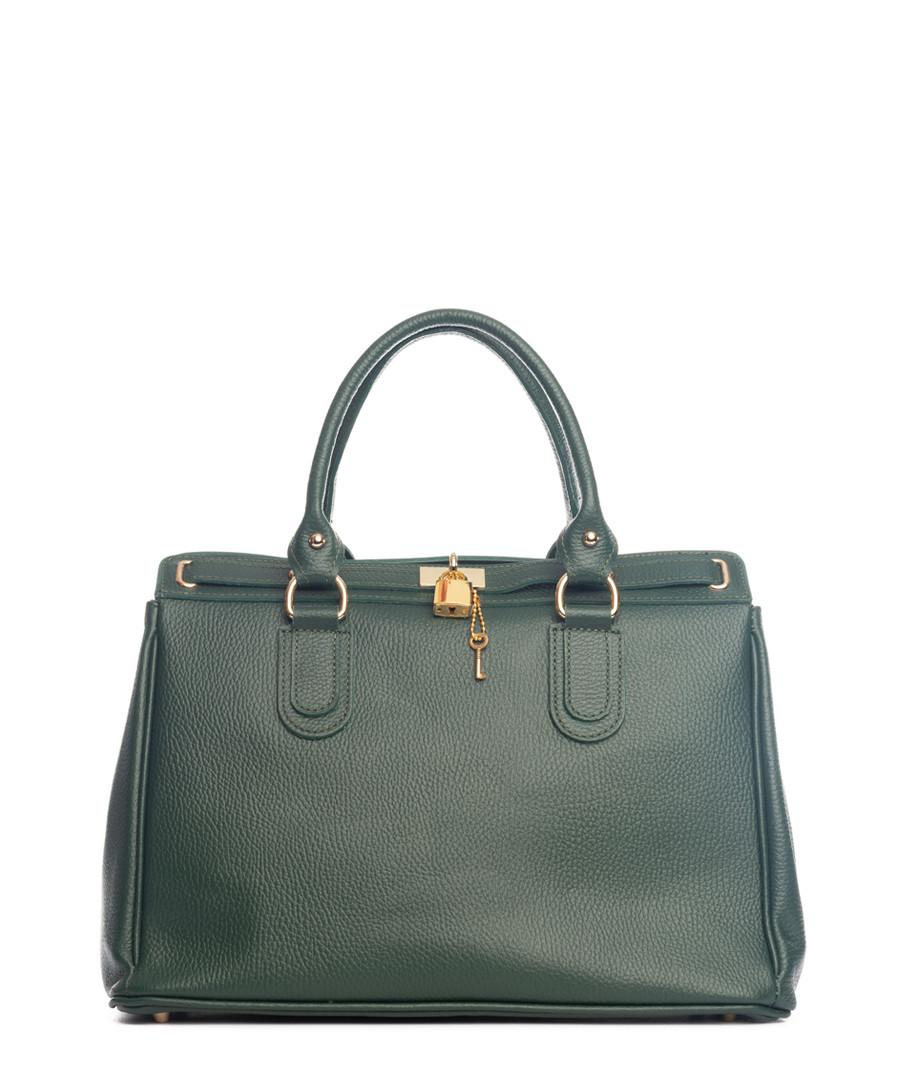 Nure green leather shopper Sale - lia biassoni