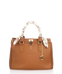 Nure Sorella tan leather shopper