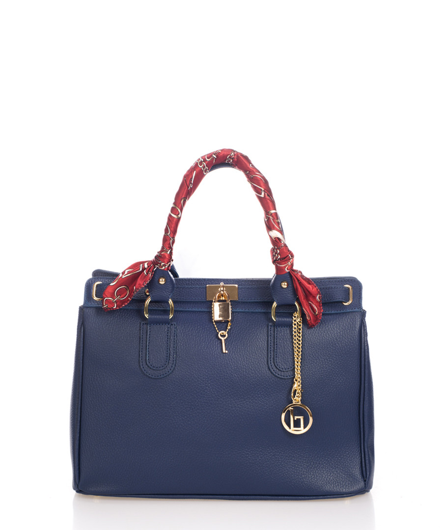 Nure Sorella dark blue leather shopper Sale - lia biassoni