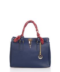 Nure Sorella dark blue leather shopper