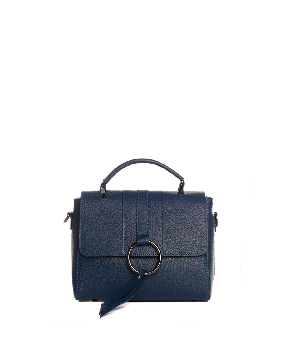Sesia blue leather crossbody Sale - lia biassoni