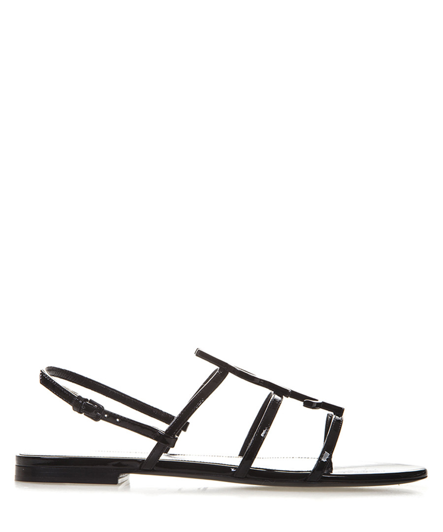 Cassandra black patent leather sandals Sale - saint laurent
