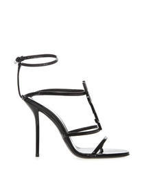 Cassandra black patent leather sandals