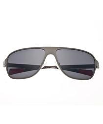 Atmosphere gunmetal & black sunglasses