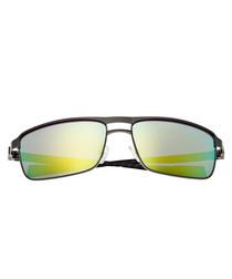 Taurus silver-tone & yellow sunglasses