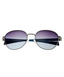 Volta silver-tone & black sunglasses