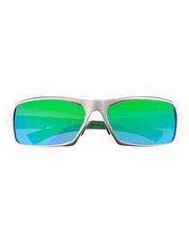 Cosmos aluminium & blue-green sunglasses