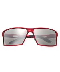 Centaurus red & silver-tone sunglasses
