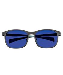 Halley gunmetal & blue sunglasses