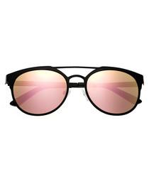 Mensa black & rose gold-tone sunglasses