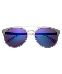 Mensa silver-tone & blue sunglasses