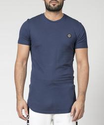 religion navy pure cotton T-shirt