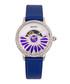 Adaline purple leather half-dial watch Sale - bertha Sale