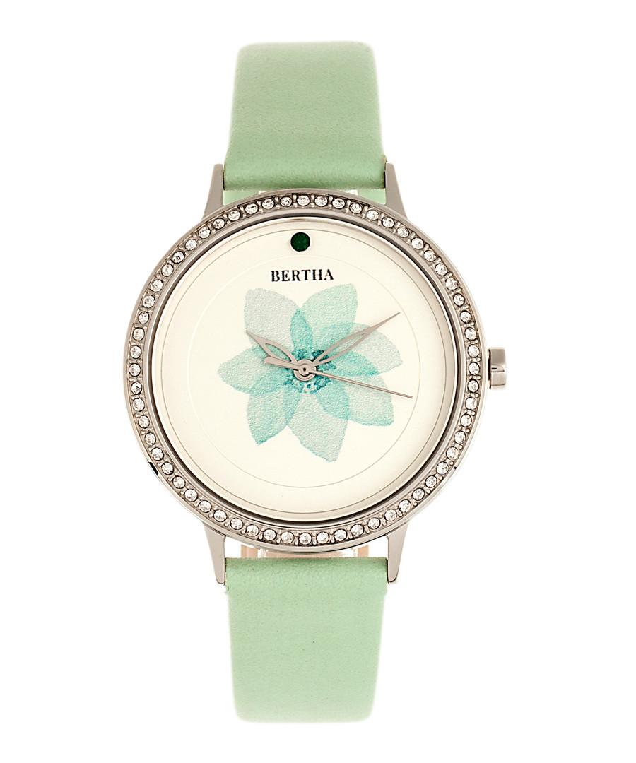Delilah mint leather flower watch Sale - bertha