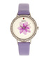 Delilah lavender leather flower watch Sale - bertha Sale