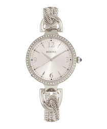 Sarah silver-tone twisted mesh watch