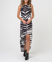 Joy zebra print split-front dress