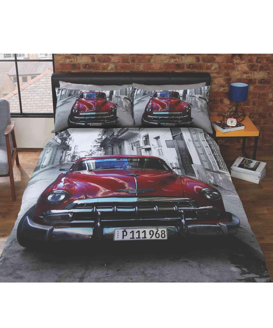 Santiago car print double duvet set Sale - rapport