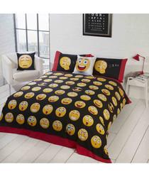 Emoji print single duvet set