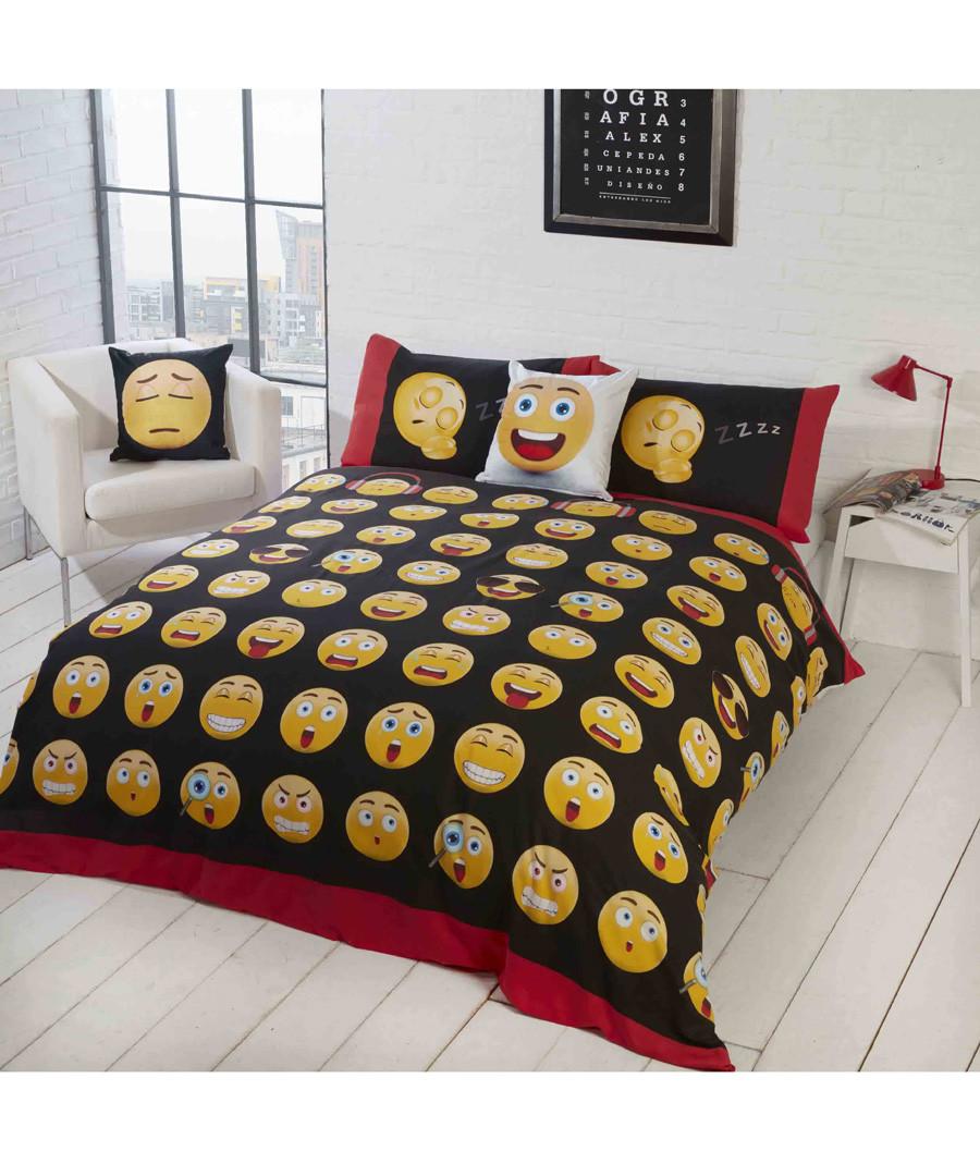 Emoji print double duvet set Sale - rapport