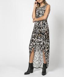 Pop tempt print hi-low dress